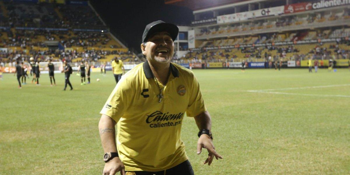 Maradona finalmente reapareció en México y explicó por qué volvió a Dorados