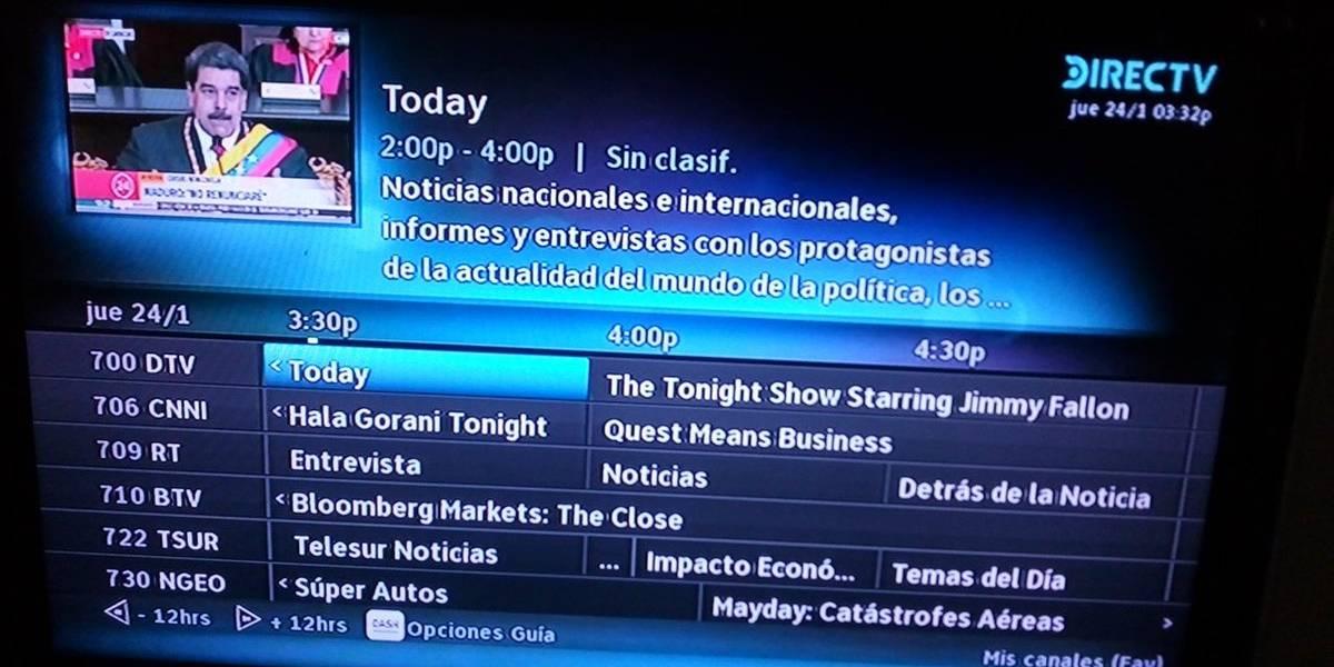 Denuncian bajada de la señal de Canal 24 Horas en Venezuela