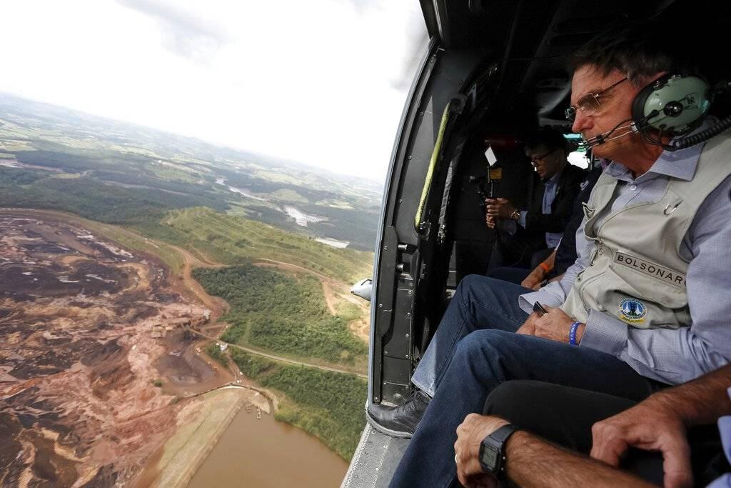 El presidente Jair Bolsonaro visitó la zona esta mañana