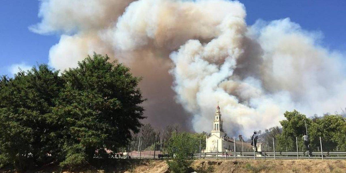 Incendio en Casablanca: detienen a sospechoso de iniciar el fuego cerca de Lo Vásquez