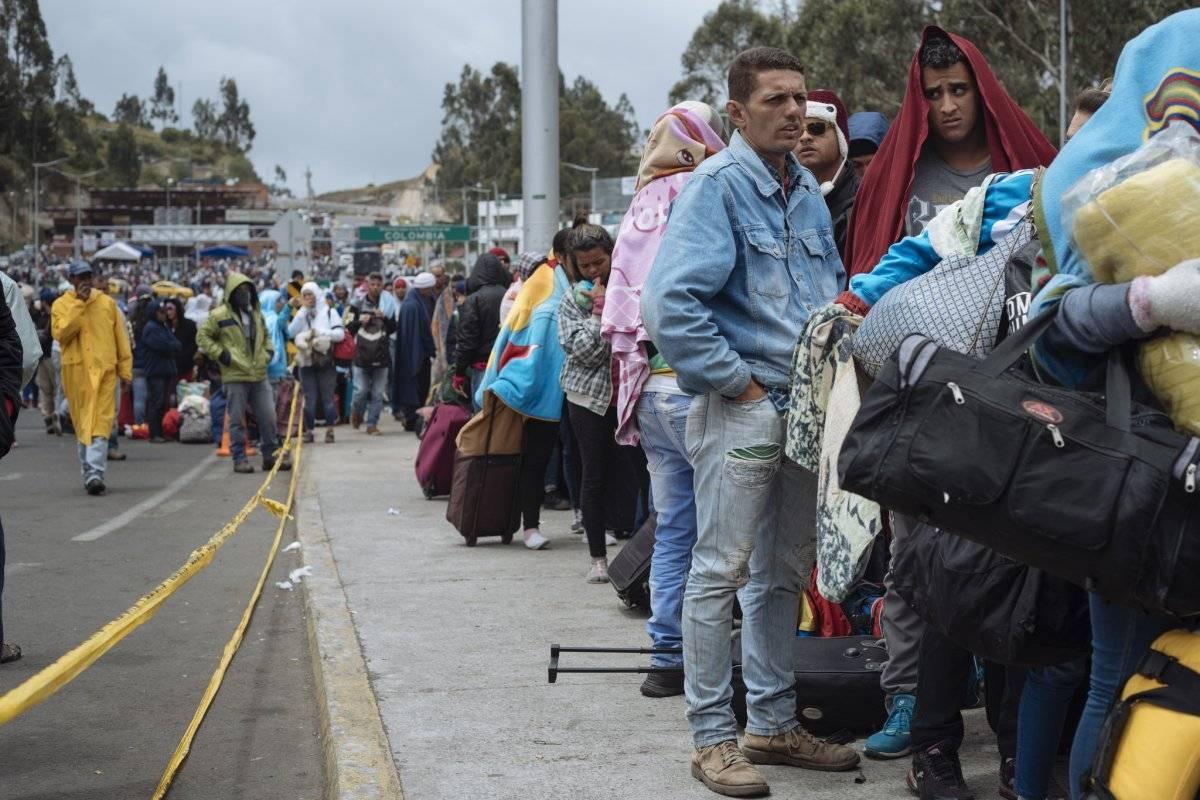 referencia migrantes venezolanos en Rumichaca