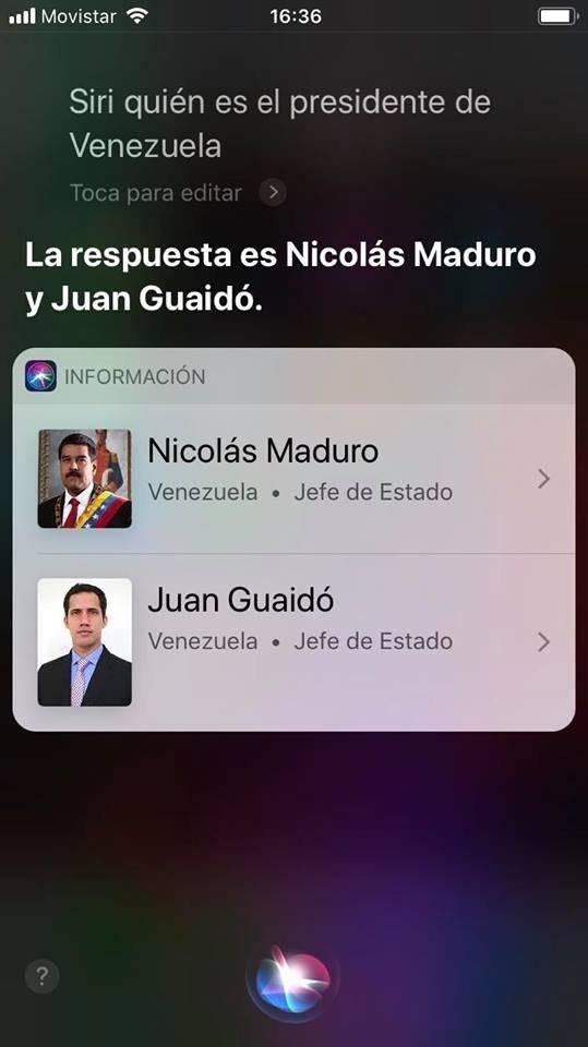 Crisis politica de Venezuela confunde a Siri