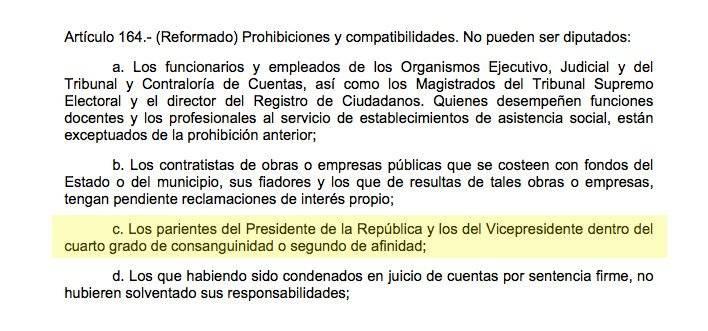 Artículo 164 de la Constitución Política de la República de Guatemala