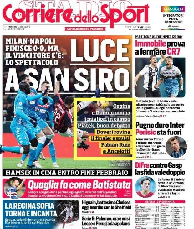 Ospina en Napoli VS AC Milan