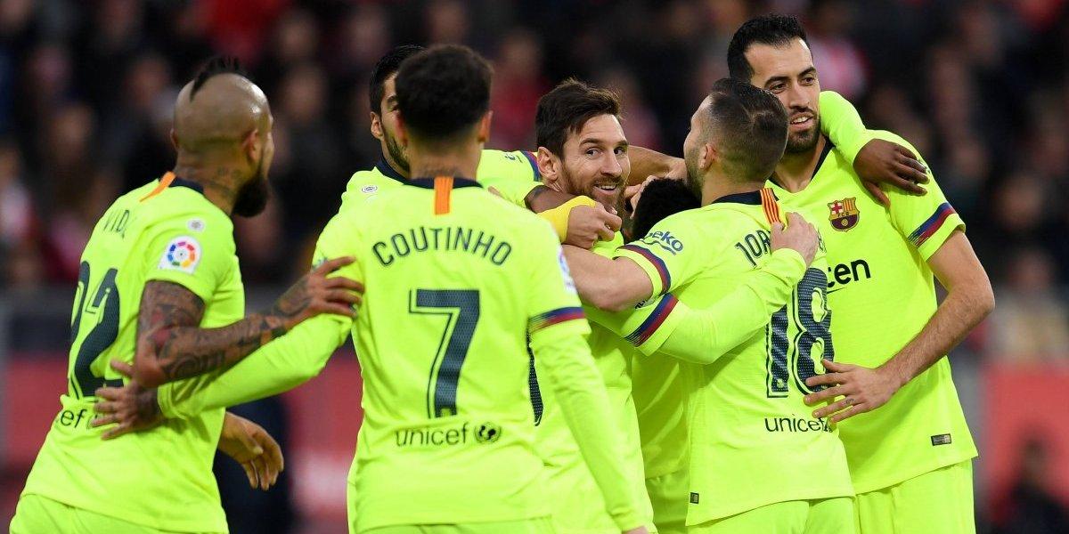 Minuto a minuto: Barcelona vence a Girona con Arturo Vidal de titular