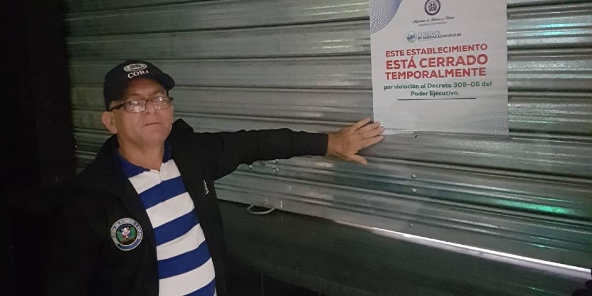 Interior y Policía cierra centro de expendio de bebidas alcohólicas por presencia de menores