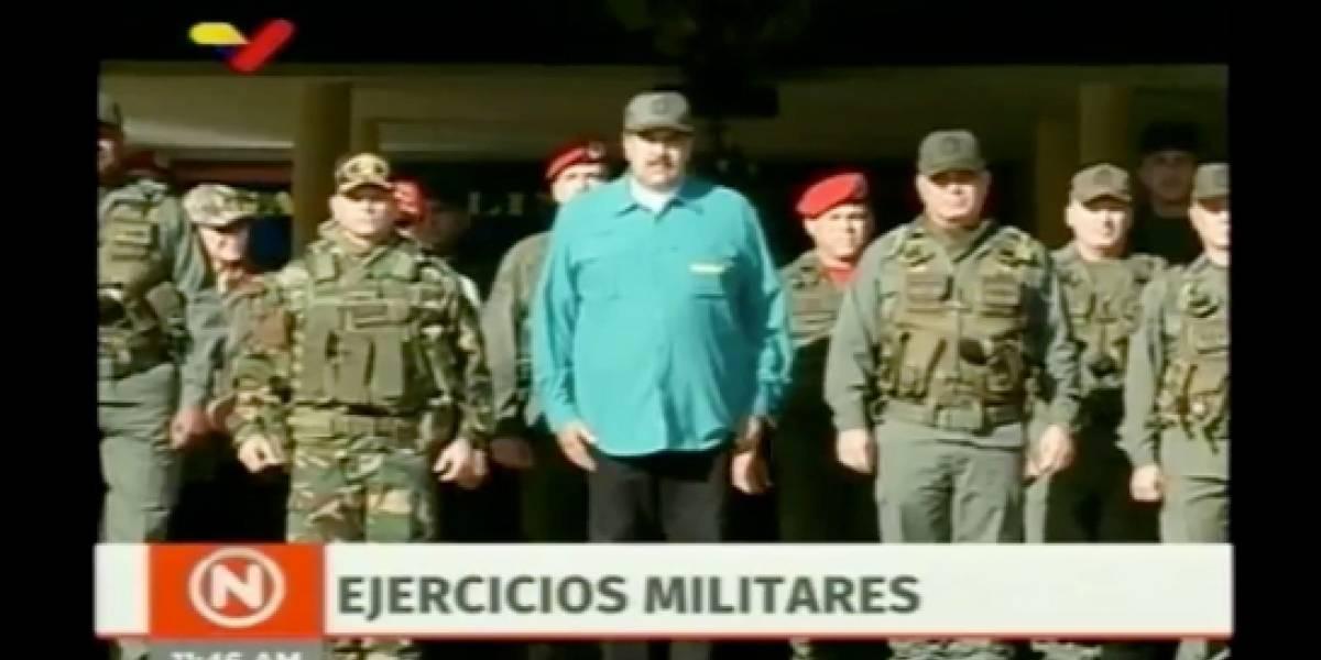 """""""Traidores nunca, leales siempre"""": Maduro se """"apoya"""" en los militares luego de rechazar el ultimátum de cuatro países europeos para llamar a elecciones"""