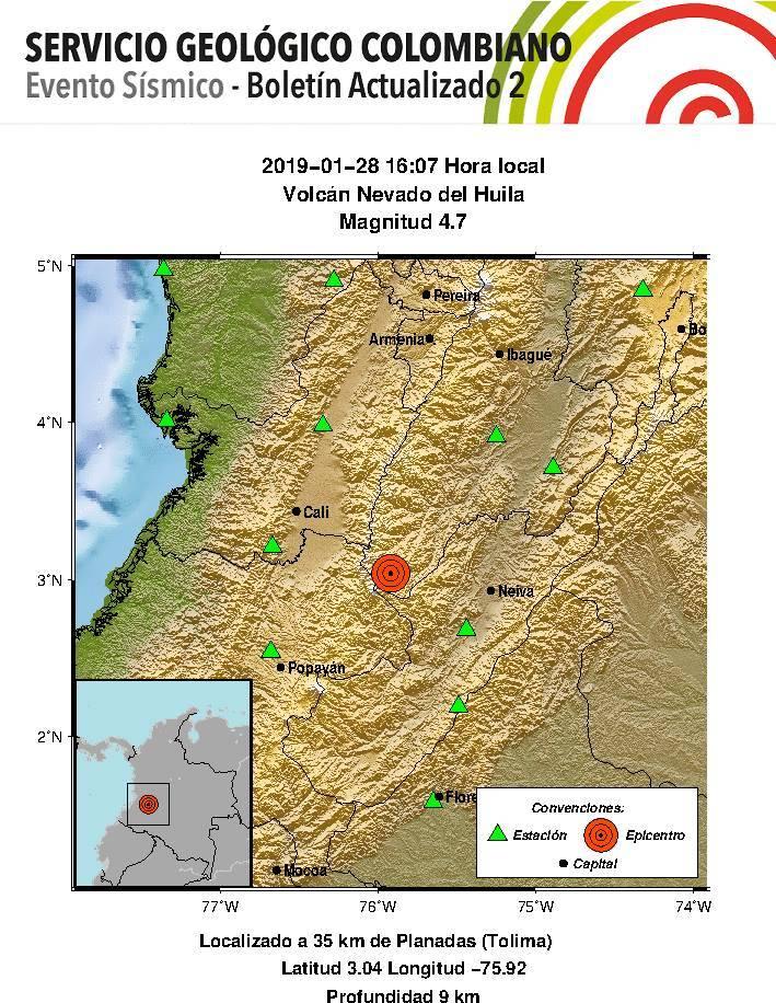 Otro más: Un nuevo temblor de magnitud de 4,8 acaba de sacudir a Colombia
