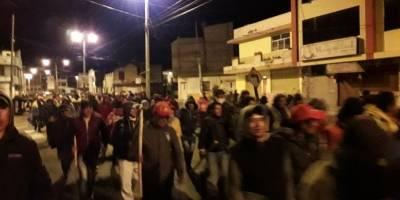 Comunidades indígenas encabezan manifestación en rechazo a las medidas económicas del Gobierno