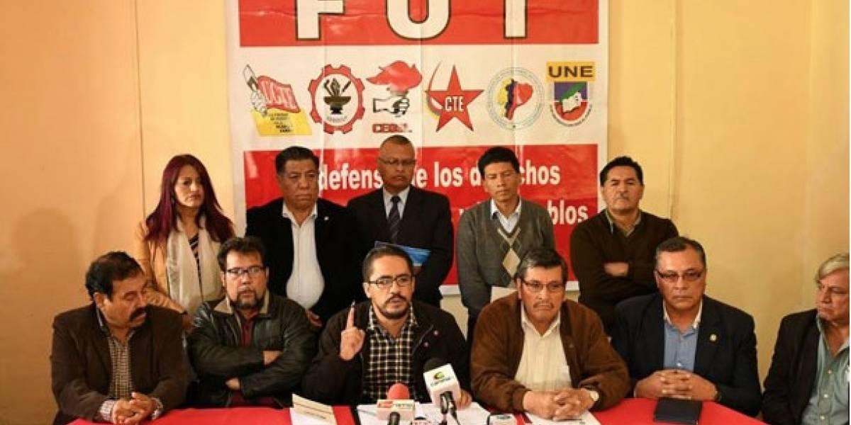 Frente Unitario de Trabajadores (FUT) llaman a una marcha contra carestía y privatizaciones