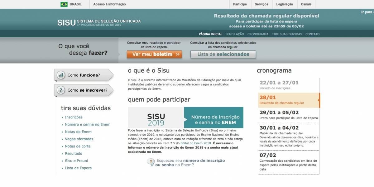 Resultado do Sisu está disponível na internet; veja como consultar