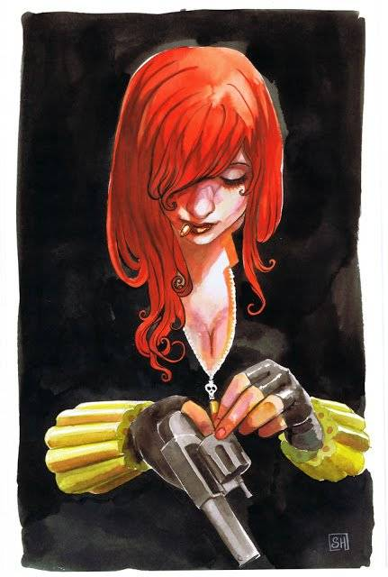 Fashion Action: http://fashionnaction.blogspot.com/2011/09/black-widow-comic-art-by-stephanie-hans.html