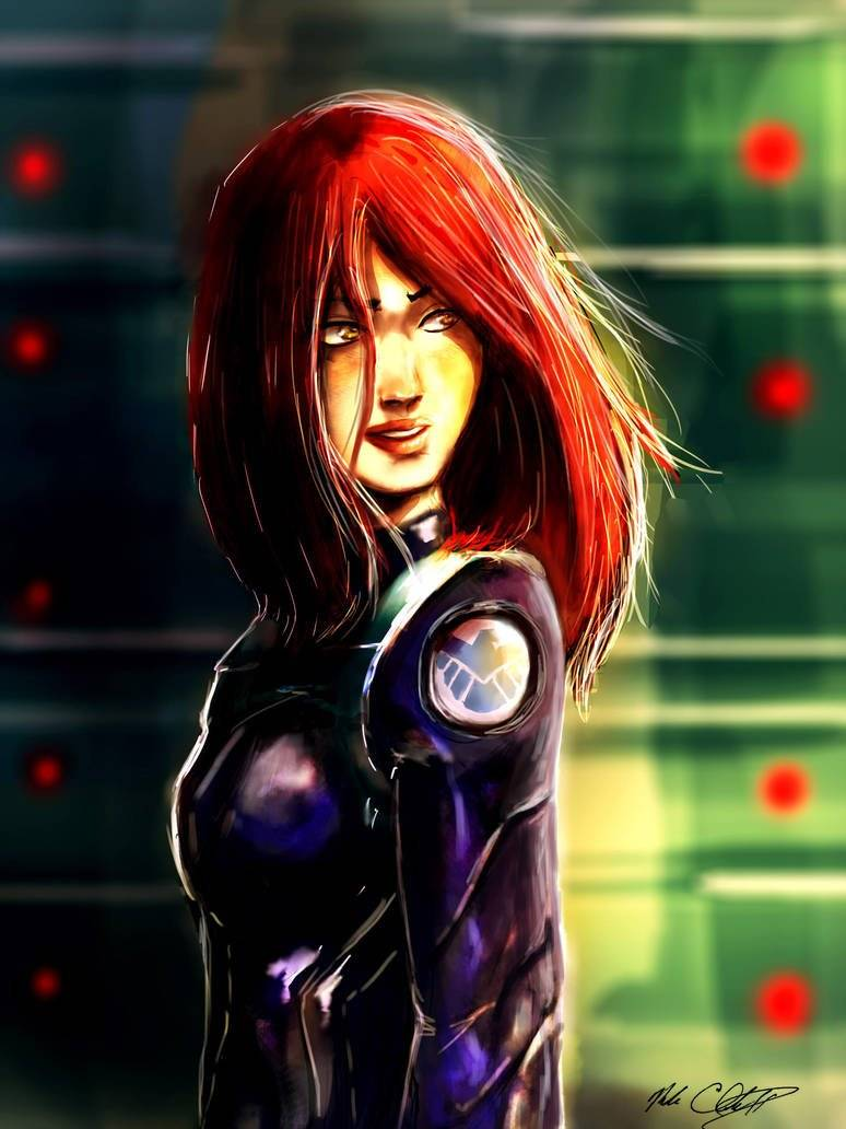 Mark Clark II: https://www.deviantart.com/mark-clark-ii/art/Black-Widow-s-First-Day-449746875