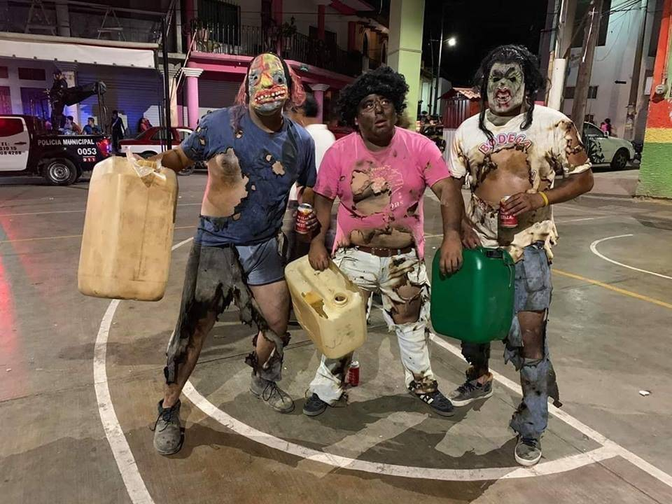 Disfraz en carnaval putleco. Foto: @OaxakandaXsiempre