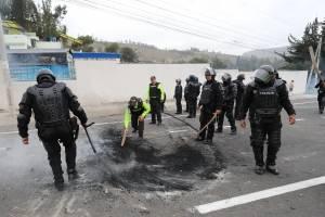Protesta indígena inicia con corte de carretera