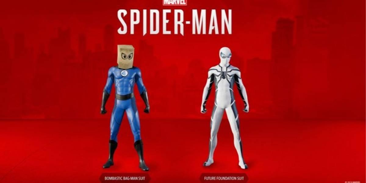 Marvel's Spider-Man recibe trajes temáticos de los Cuatro Fantásticos