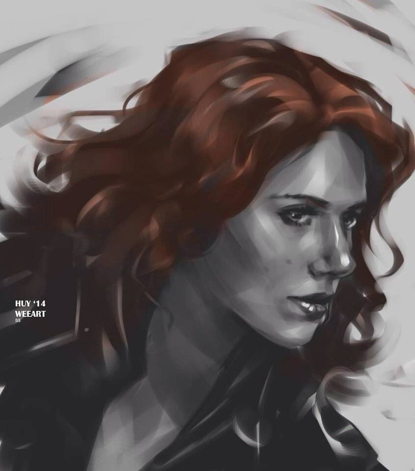 Weearts: http://weearts.tumblr.com/post/94553006417/black-widow-sketch-scarlett-johansson-is