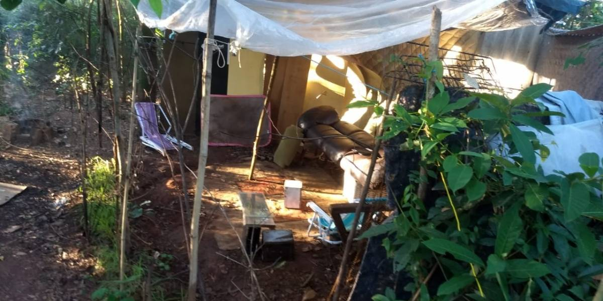 PM encontra 'acampamento da maconha' no interior de SP