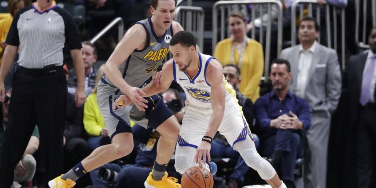 Curry y los Warriors propinan paliza a los Pacers de Indiana
