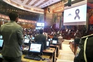 Rina Campain agradeció apoyo de la Asamblea Nacional tras el asesinato de su esposo