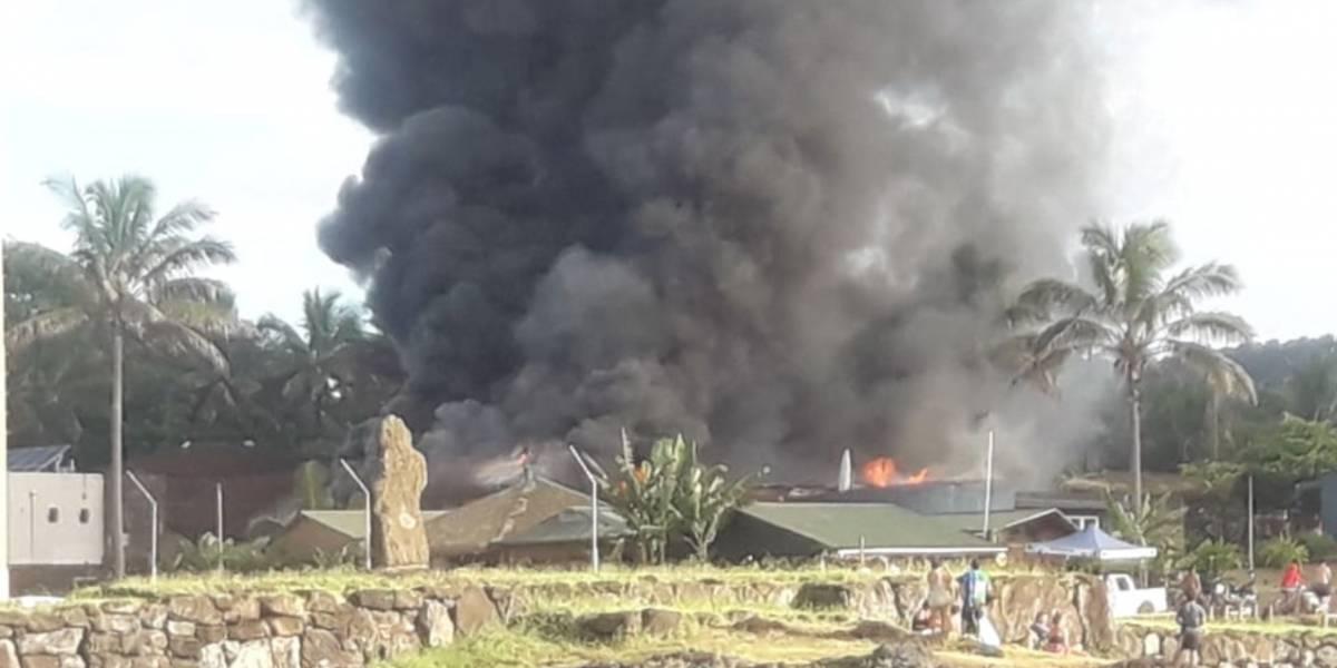 Juzgado de Garantía de Isla de Pascua reducido a cenizas: asesinato desató ola de violencia en Chile polinésico