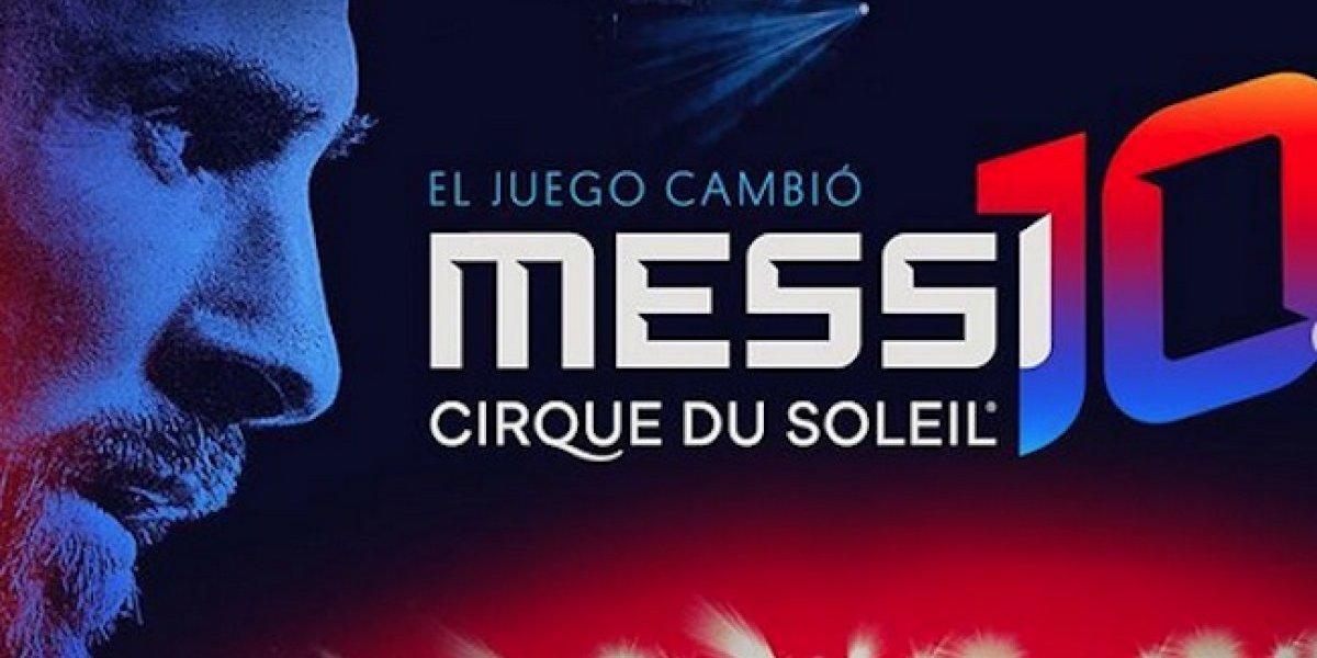 Messi y Cirque du Soleil se unen para presentar espectáculo de circo y futbol