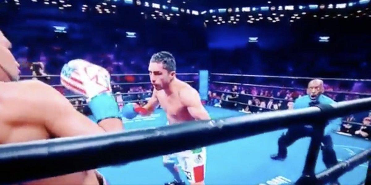 Las reacciones de un referee a los golpes de un boxeador