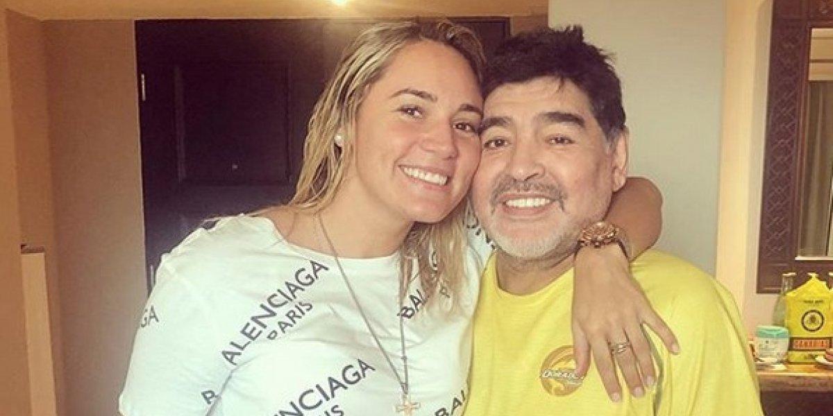 Final de Copa Libertadores detonó ruptura entre Maradona y su novia