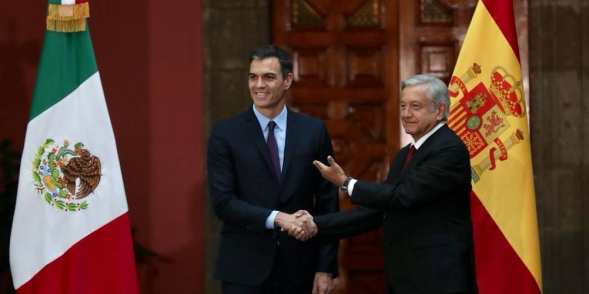 Con austera bienvenida, AMLO recibe al presidente del gobierno español