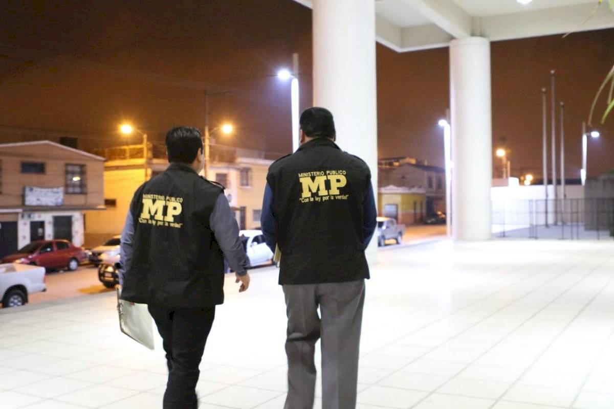 Investigan lavado de dinero en un banco. Foto: Ministerio Público