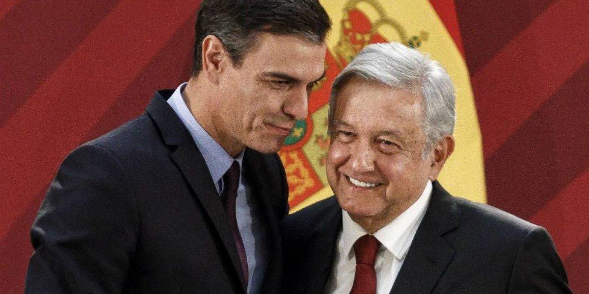 Pedro Sánchez regala a AMLO acta de nacimiento de su abuelo