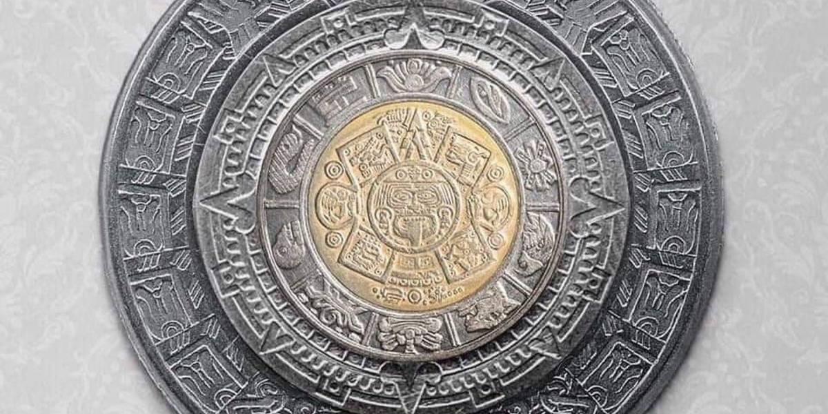 Es posible formar el Calendario Azteca uniendo los anillos de monedas mexicanas