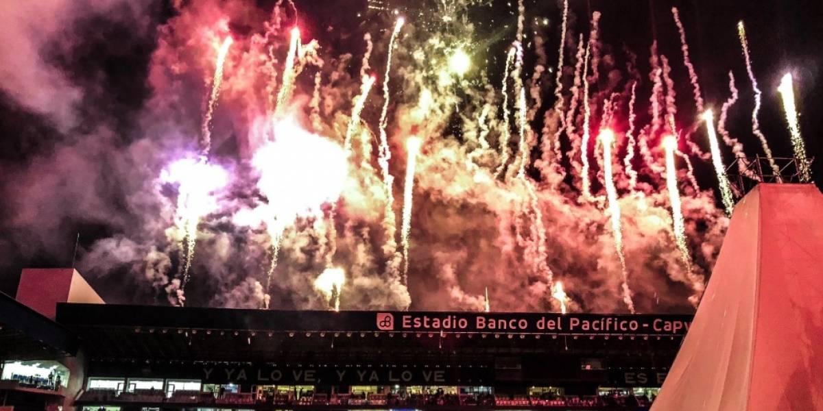 Club Sport Emelec: Presentador Carlos Luis Andrade se equivoca durante la 'Explosión Azul'