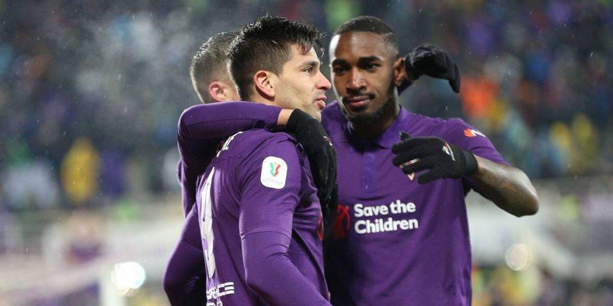 Fiorentina avanzó en la Copa Italia tras encajarle una abismante goleada a Roma