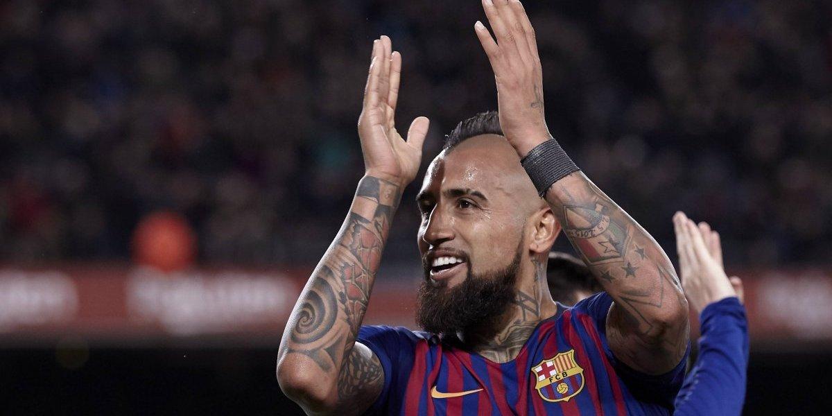 Músculo y necesario: Así catalogó la prensa española el desempeño de Vidal en victoria del Barça