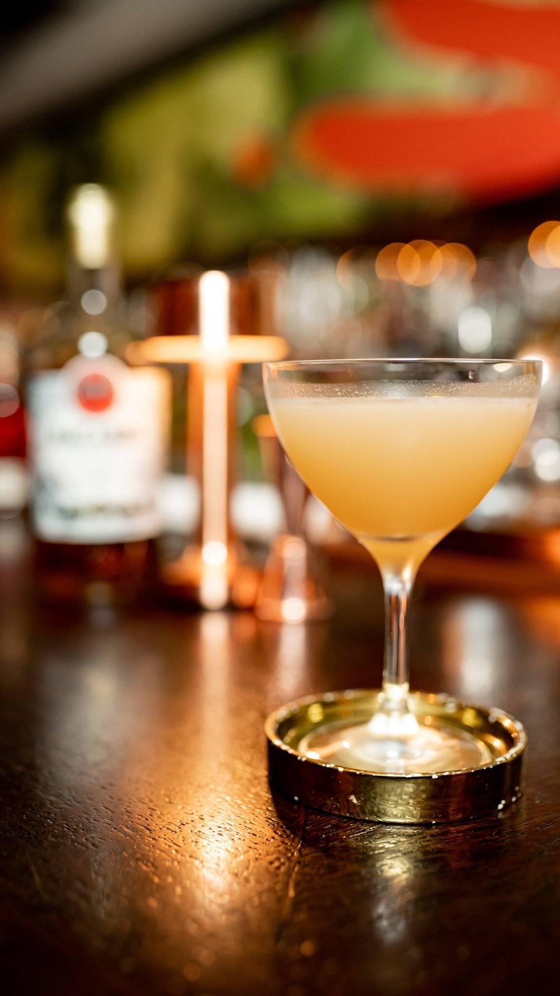 Golden Family es el nombre del cóctel del bartender.