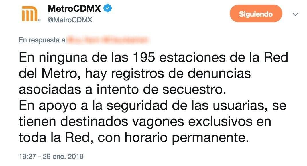 Twitter Metro CDMX