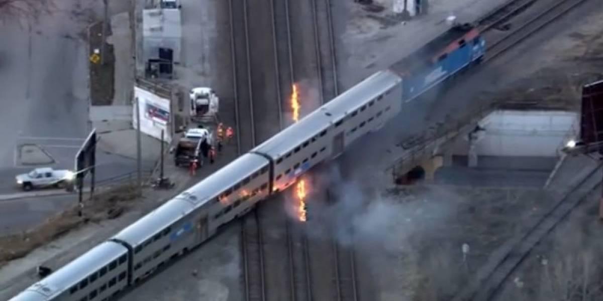 Al borde de la glaciación en EEUU: ola polar obliga a incendiar las vías de los trenes en Chicago