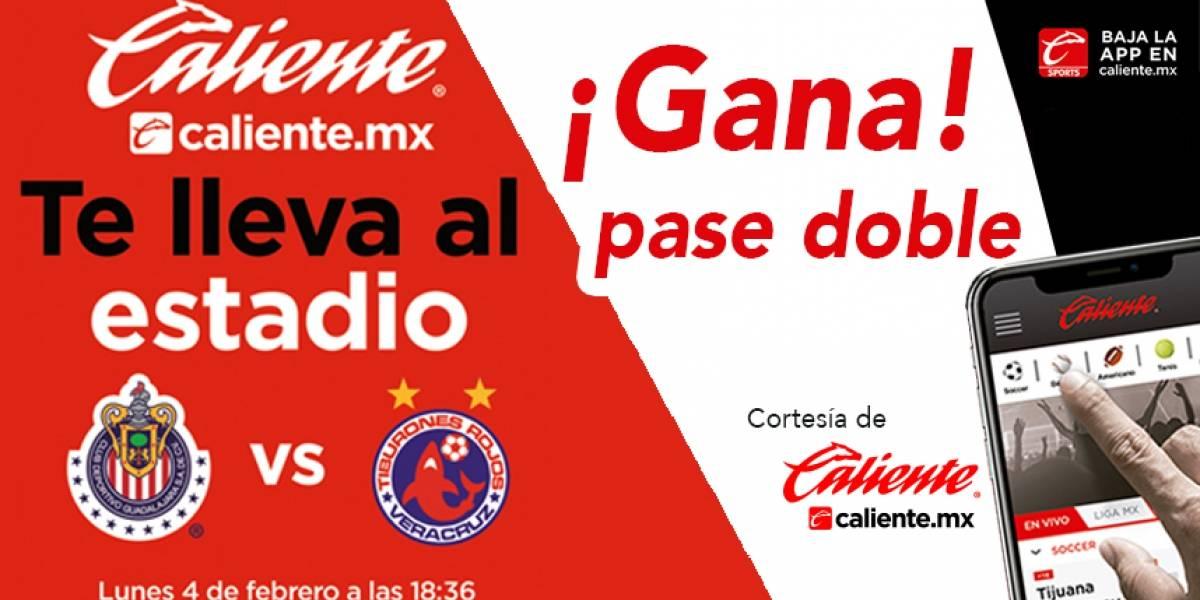 ¡Gana! pase doble para el partido Chivas vs Veracruz