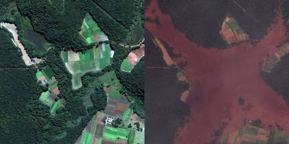 Brumadinho: Fotos feitas antes e depois da lama
