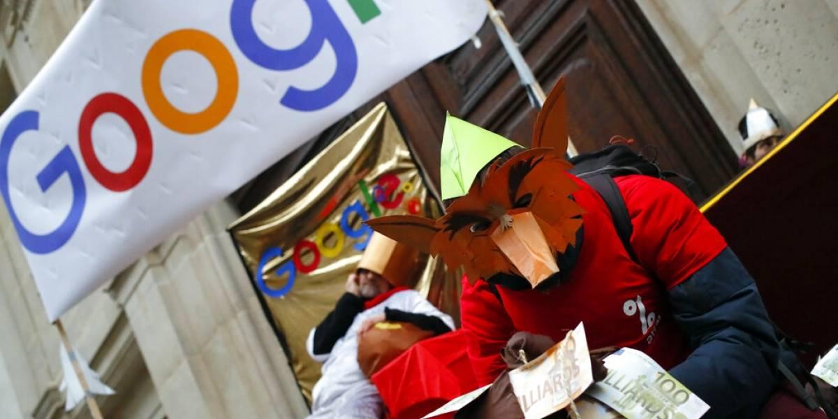 Protestas contra Google en París