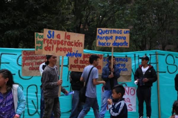 dudas sobre manifestación de apoyo a la transformación del parque Japón