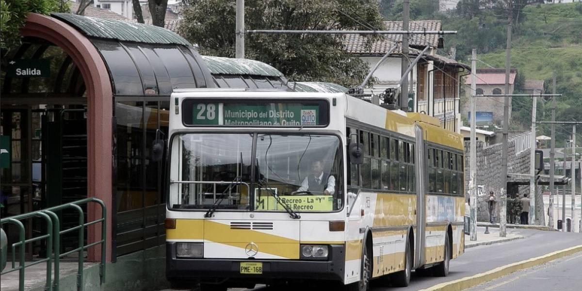 Quito: Paradas del Trole Bus serán cerradas por trabajos viales