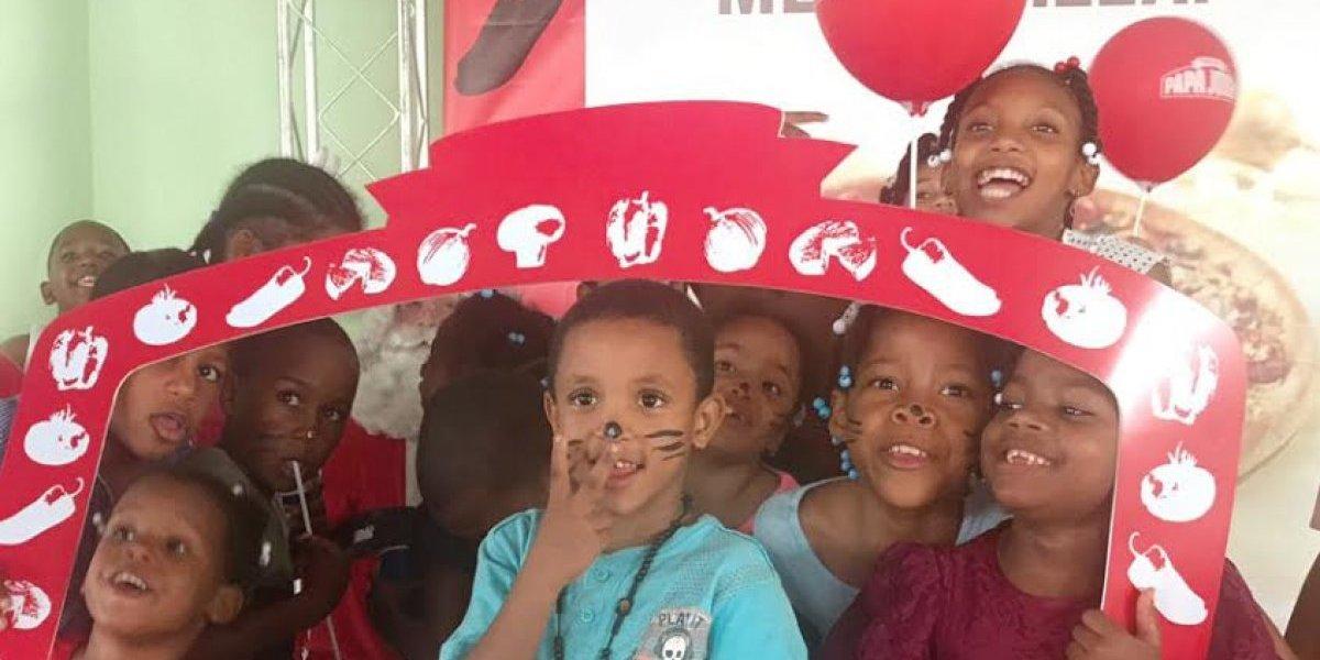#TeVimosEn: Papa John´s agasaja a infantes de la Aldea SOS