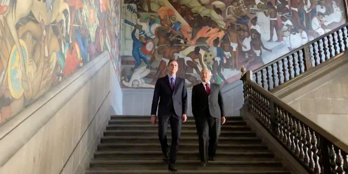 Diego Rivera es nuestro Picasso, dice AMLO a presidente de España