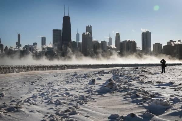 Helada brutal de Chicago