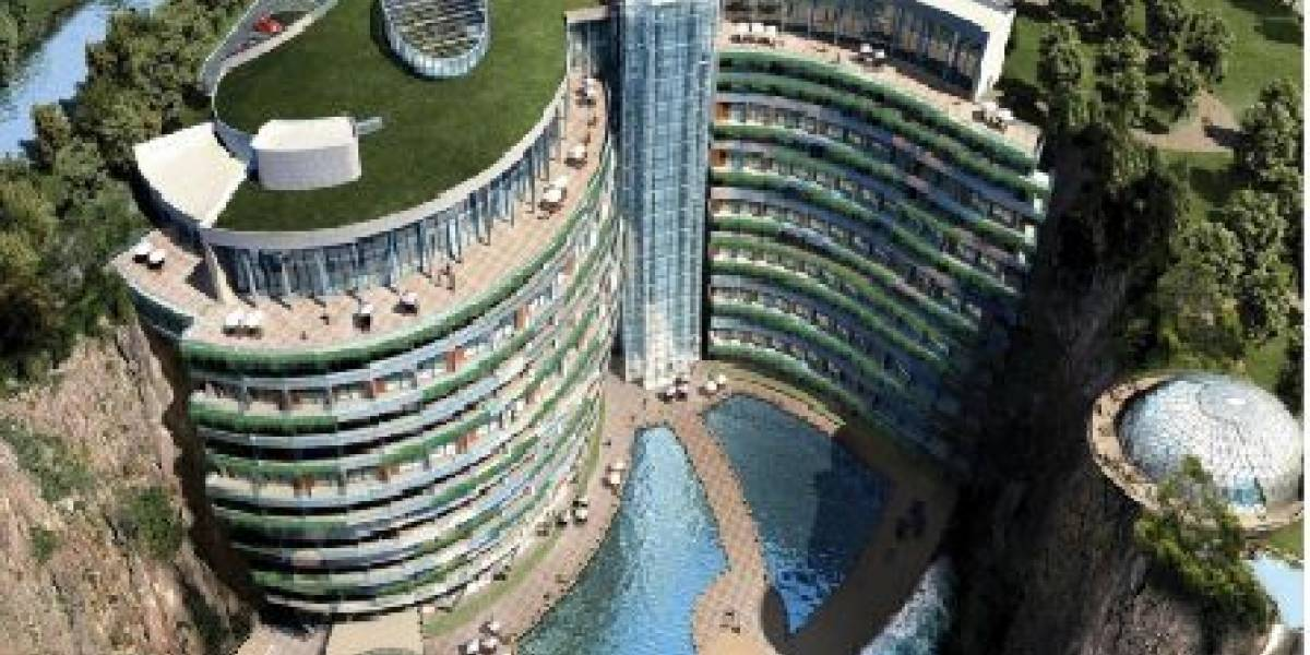Hotel subterráneo de lujo a en China