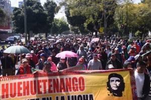 Joviel Acevedo y manifestación de maestros