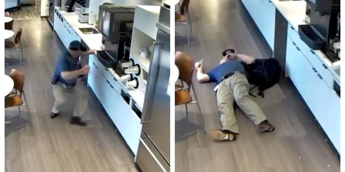 Fingió una caída para estafar al seguro pero las cámaras de seguridad lo captaron actuando