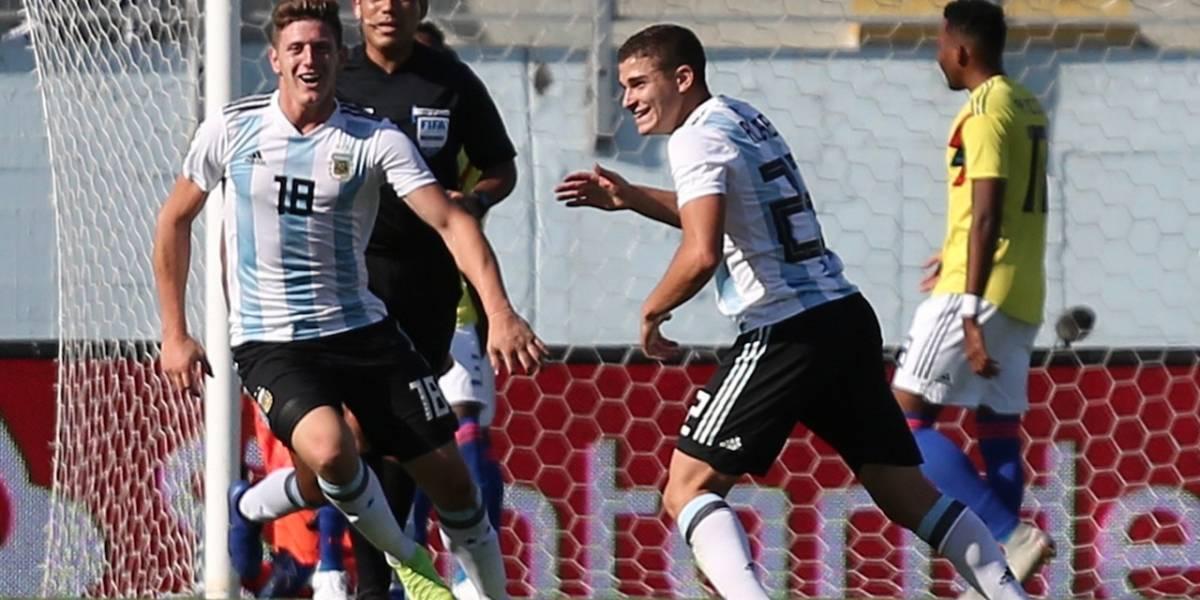 ¡Duro golpe en el Sub-20! Colombia no aprovechó y Argentina liquidó